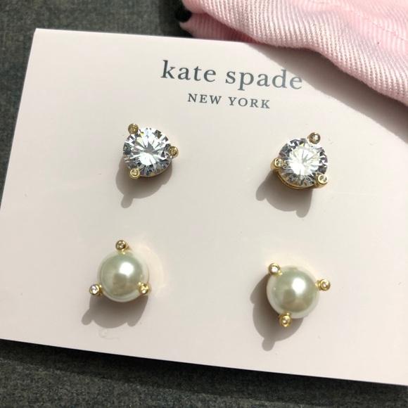 Kate Spade Rise n Shine Duo Earrings NWT